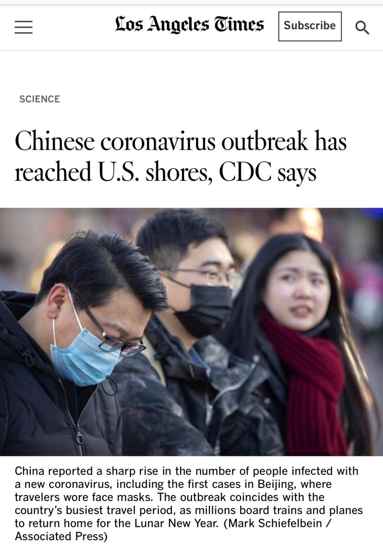 Los Angeles Times-China Virus
